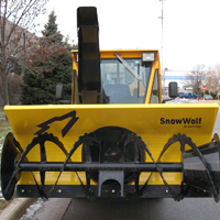 Snow Blower Front Side Decal Area
