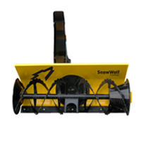 clipped snowblower