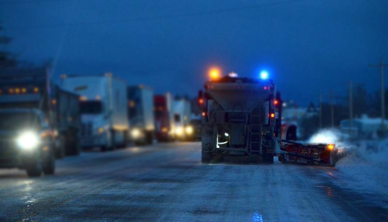 How Different Colored Warning Lights Prevent Rear-End Collisions Plow Trucks