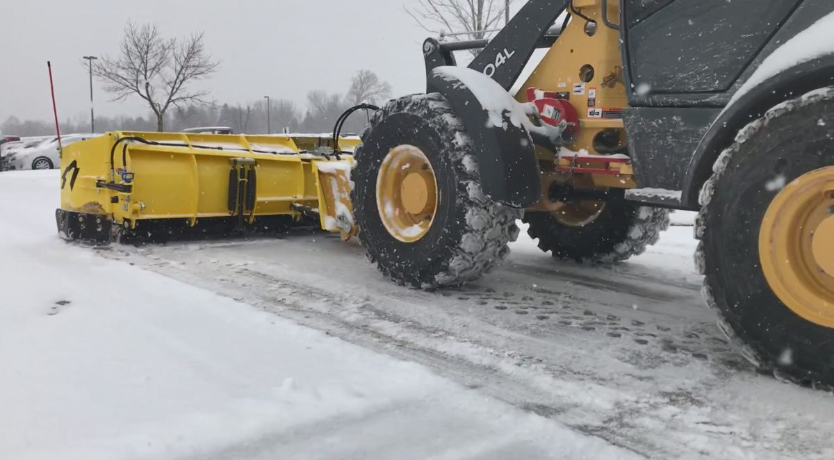 cpmpact wheel loader with SnowWolf snowplow